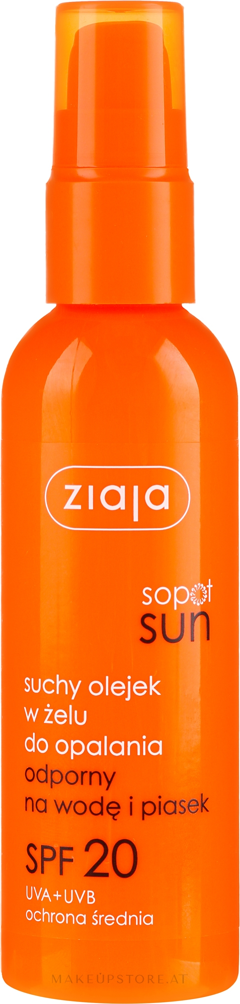 Trockenes Sonnenschutzöl-Gel für den Körper SPF 20 - Ziaja Sopot Sun SPF 20 — Bild 90 ml