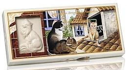 Düfte, Parfümerie und Kosmetik Naturseifen-Geschenkset - Saponificio Artigianale Floral Bouquet Scented Soap (Seife in Katzenform 3 St. x 125g)