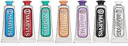 Düfte, Parfümerie und Kosmetik Zahnpasta Geschenkset - Marvis Toothpaste Flavor Collection Gift Set (7x25ml)