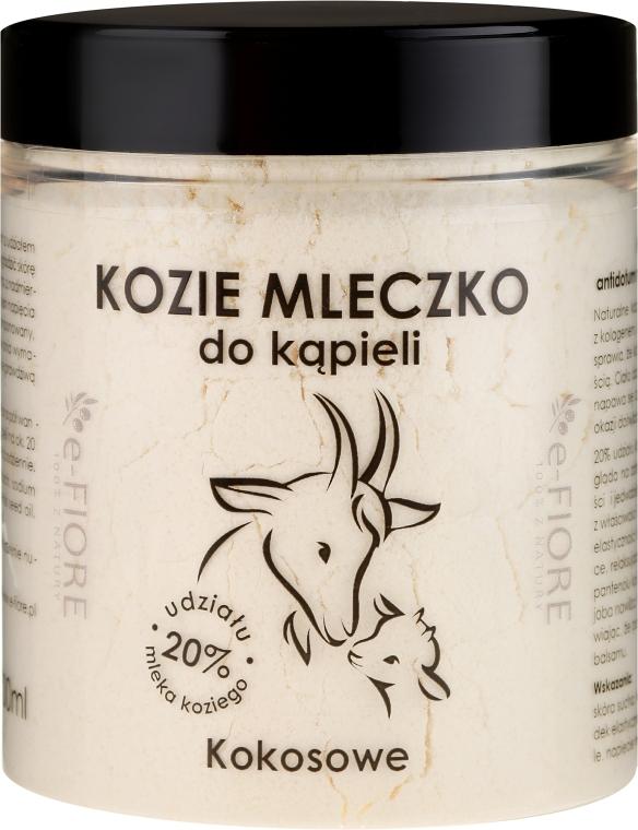 Natürliches Ziegenmilchbad mit Kokosnuss - E-Fiore Coconut Bath Milk