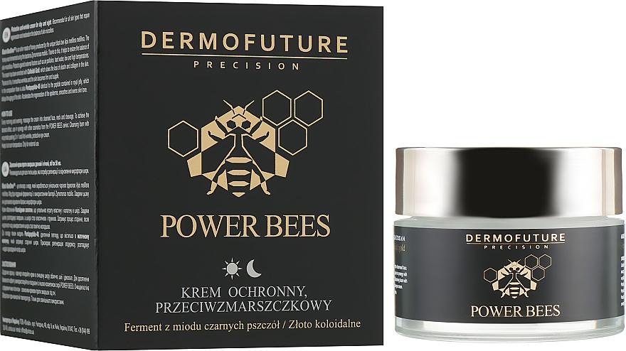 Schützende Anti-Falten Gesichtscreme für Tag und Nacht - Dermofuture Power Bees Protective Anti-wrinkle Cream