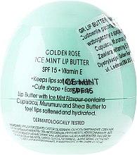 Düfte, Parfümerie und Kosmetik Lippenbutter mit Ice Mint Aroma SPF 15 - Golden Rose Lip Butter SPF15 Ice Mint