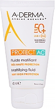 Düfte, Parfümerie und Kosmetik Mattierendes Sonnenschutzfluid für das Gesicht SPF 50+ - A-Derma Protect AC Mattifying Fluid SPF 50