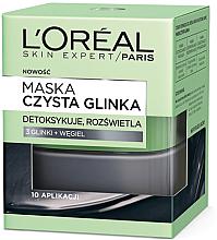 Düfte, Parfümerie und Kosmetik Aufhellende Detox-Gesichtsmaske mit Ton und Aktivkohle - L'Oreal Paris Skin Expert