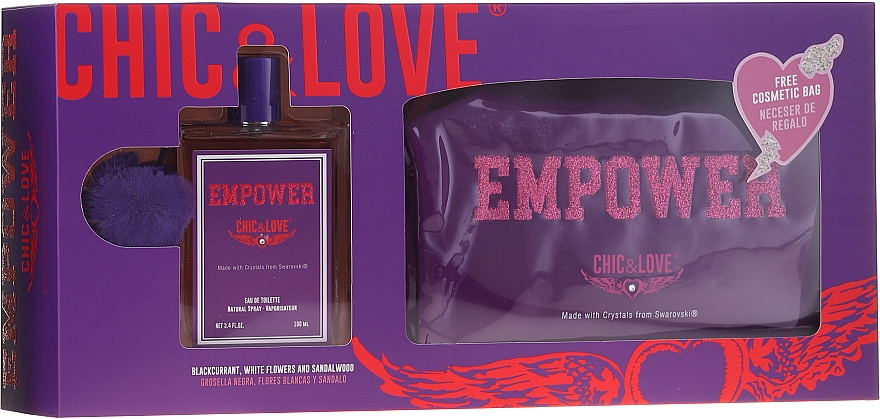 Chic&Love Empower - Duftset (Eau de Toilette 100ml + Kosmetiktasche)