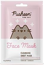 Düfte, Parfümerie und Kosmetik Reinigende Tuchmaske mit Orange und Kamelie - Pusheen Cleansing Sheet Mask