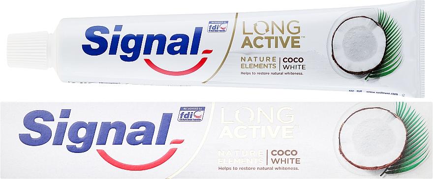 Zahnpasta Long Active Nature Elements Coco White - Signal Long Active Nature Elements Coco White