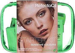 Düfte, Parfümerie und Kosmetik Pflegeset zum Wimpernfärben - RefectoCil Lash & Brow Starter Sensitive Kit (dye/3x15ml + developer/gel/60ml + tint/remover/150ml + artist/palette + pads + folder)
