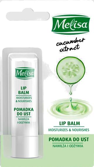 Feuchtigkeitsspendender und pflegender Lippenbalsam mit Gurkenextrakt - Uroda Melisa Cucumber Extract Lip Balm