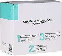 Düfte, Parfümerie und Kosmetik Gesichtspflegeset - Germaine de Capuccini Purexpert Special Set 1-2-3 Oily (Mattierungsschaum 30ml + Gesichtsfluid 50ml + Gesichtsgel 50ml)