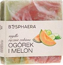 Düfte, Parfümerie und Kosmetik Handgemachte Naturseife mit Gurken- und Melonenduft - Bosphaera