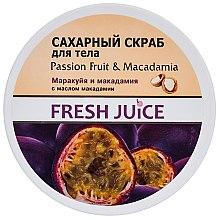 Düfte, Parfümerie und Kosmetik Zuckerpeeling für den Körper Passionsfrucht & Macadamia - Fresh Juice Passion Fruit & Macadamia