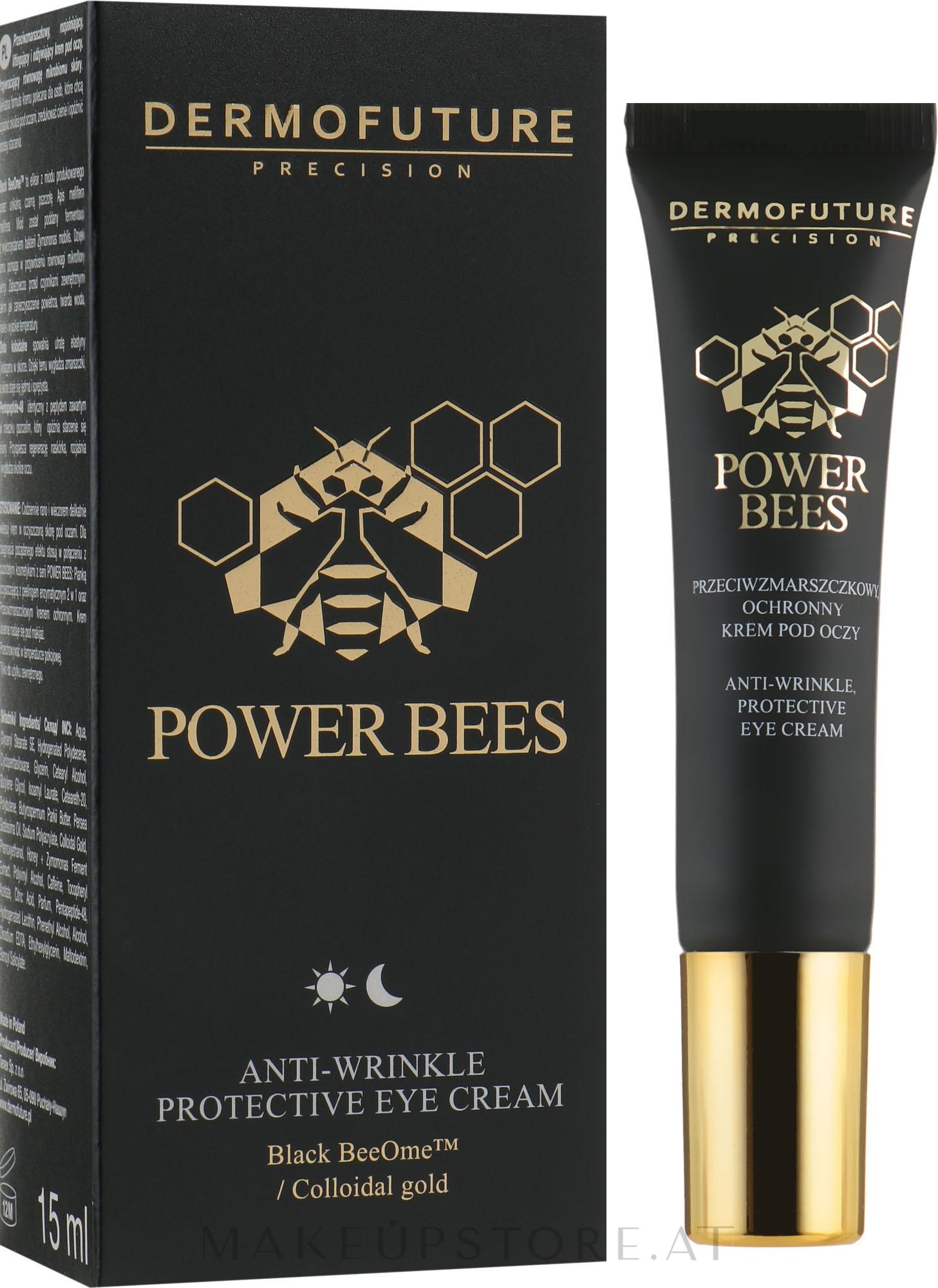 Schützende Anti-Falten Augencreme - Dermofuture Power Bees Anti-wrinkle Protective Eye Cream — Bild 15 ml