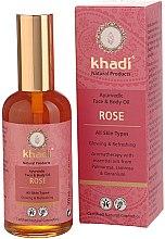 """Düfte, Parfümerie und Kosmetik Ayurvedisches Gesichts- und Körperöl """"Rose"""" - Khadi"""