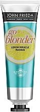 Düfte, Parfümerie und Kosmetik Straffende Maske für blondes und blondiertes geschwächtes Haar mit Zitronenöl - John Frieda Sheer Blonde Go Blonder Lemon Miracle