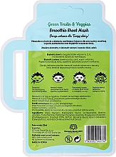Feuchtigkeitsspendende und beruhigende Tuchmaske für das Gesicht mit grünen Früchten - Dr. Mola Green Fruits & Veggies Smoothie Sheet Mask — Bild N2