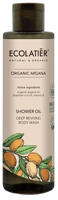 Tief regenerierendes Duschöl mit Arganöl und Vitamin E - Ecolatier Organic Argana Shower Oil