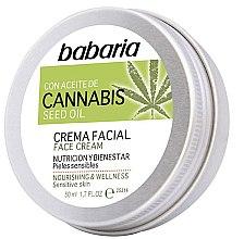 Düfte, Parfümerie und Kosmetik Pflegende und feuchtigkeitsspendende Gesichtscreme mit Cannabissamenöl und Vitamin E - Babaria Cannabis Seed Oil Face Cream
