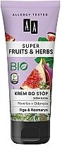 Düfte, Parfümerie und Kosmetik Feuchtigkeitsspendende und entspannende Fußcreme Feige & Rosmarin - AA Super Fruits & Herbs
