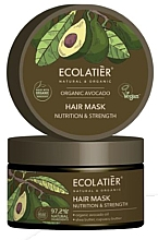 Düfte, Parfümerie und Kosmetik Pflegende und stärkende Haarmaske mit Avocado - Ecolatier Organic Avocado Hair Mask