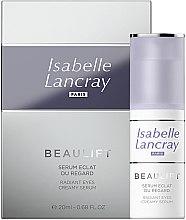 Düfte, Parfümerie und Kosmetik Regenerierendes und glättendes Serum gegen dunkle Augenringe und Tränensäcke - Isabelle Lancray Beaulift Radiant Eye Creamy Serum