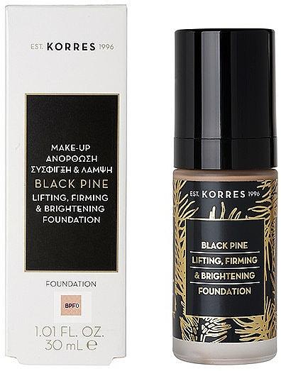Straffende und aufhellende Foundation - Korres Black Pine Lifting, Firming & Brightening Foundation