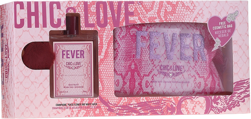 Chic&Love Fever - Duftset (Eau de Toilette 100ml + Kosmetiktasche)