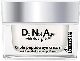 Düfte, Parfümerie und Kosmetik Anti-Falten Augenkonturcreme mit Tripeptidkomplex gegen dunkle Augenringe - Dr. Brandt Triple Peptide Eye Cream