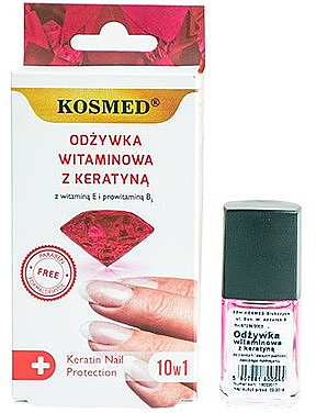 Nagellack mit Keratin - Kosmed Colagen Nail Protection 10in1