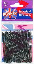 Düfte, Parfümerie und Kosmetik Haarnadeln schwarz 70 mm 40 St. - Ronney Professinal Curly Hairpins