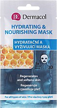 Düfte, Parfümerie und Kosmetik Regenerierende und feuchtigkeitsspendende Tuchmaske für das Gesicht - Dermacol 3D Hydrating And Nourishing Mask