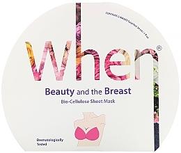 Düfte, Parfümerie und Kosmetik Straffende Biocellulose-Tuchmaske für die Brust - When Beauty And The Breast Bio-Cellulose Mask