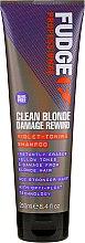 Düfte, Parfümerie und Kosmetik Hochpigmentiertes Silbershampoo - Fudge Clean Blonde Damage Rewind Shampoo