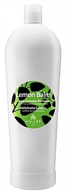 Tiefenreinigendes Shampoo für normales und fettiges Haar mit Zitronengras - Kallos Cosmetics Lemon Balm Shampoo — Bild N1