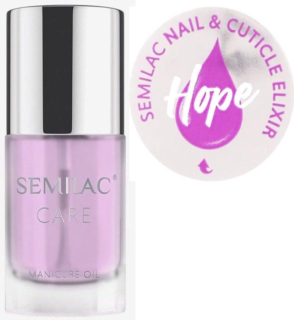 Nagel- und Nagelhautpflegeöl mit Jasmin und Lilie Duft - Semilac Care Nail & Cuticle Elixir Hope
