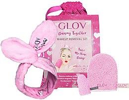 Düfte, Parfümerie und Kosmetik Abschminkset - Glov Spa Bunny Together Set (Handschuh + Handschuh Mini + Haarband + Kosmetiktasche)