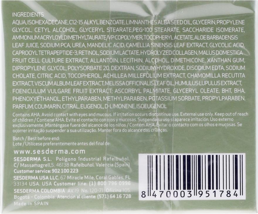 Feuchtigkeitsspendende Anti-Aging Gesichtscreme mit Mandelsäure für trockene Haut - SesDerma Laboratories Mandelac Moisturizing Cream — Bild N2