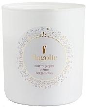Düfte, Parfümerie und Kosmetik Duftkerze im Glas Schwarzer Pfeffer, Moschus, Bergamotte - Flagolie Soy Candle
