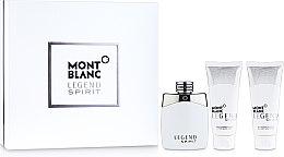 Düfte, Parfümerie und Kosmetik Montblanc Legend Spirit - Duftset (Eau de Toilette 100ml + Duschgel 100ml + After Shave Balsam 100ml)