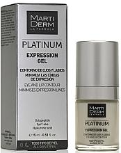 Düfte, Parfümerie und Kosmetik Augen- und Lippenkonturgel gegen mimische Falten - MartiDerm Platinum Expression Gel