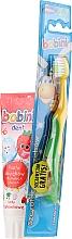 Düfte, Parfümerie und Kosmetik Zahnpflegeset für Kinder 1-6 Jahre - Bobini 1-6 (Zahnbürste gelb-grün + Zahnpasta 75ml)