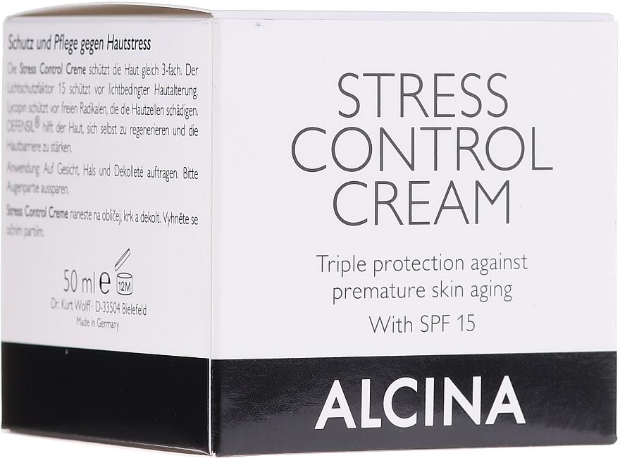 Gesichtscreme gegen vorzeitige Hautalterung LSF 15 - Alcina Stress Control Creme  — Bild N1