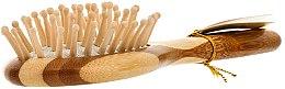 Bambus Massagebürste für Haar klein - Olivia Garden Healthy Hair Small Oval Ionic Massage Brush — Bild N2