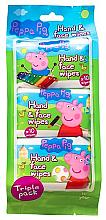 Düfte, Parfümerie und Kosmetik Feuchttücher für Gesicht und Hände - Peppa Pig Peppa Hand & Face Wipes
