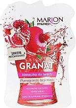 Düfte, Parfümerie und Kosmetik Gesichts- und Halsmaske mit Granatapfel - Marion Fit & Fresh Pomegranate Face Mask