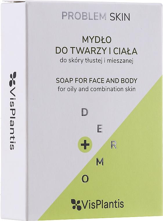 Teerseife mit Olivenöl für Gesicht und Körper - Vis Plantis Soaps Birch Tar Soap With Olive Oil For Face And Body Problem Skin — Bild N1