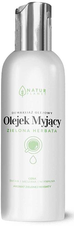 Gesichtsreinigungsöl zum Abschminken mit Grünteeduft für normale, trockene und Mischhaut - Natur Planet Washing Oil Green Tea