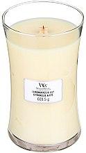 Düfte, Parfümerie und Kosmetik Duftkerze im Glas Lemongrass & Lily - WoodWick Hourglass Candle Lemongrass & Lily
