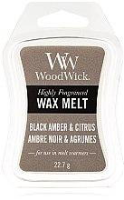 Düfte, Parfümerie und Kosmetik Tart-Duftwachs Black Amber & Citrus - WoodWick Wax Melt Black Amber & Citrus