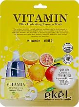 Düfte, Parfümerie und Kosmetik Tuchmaske für das Gesicht mit Vitaminen - Ekel Vitamin Ultra Hydrating Mask